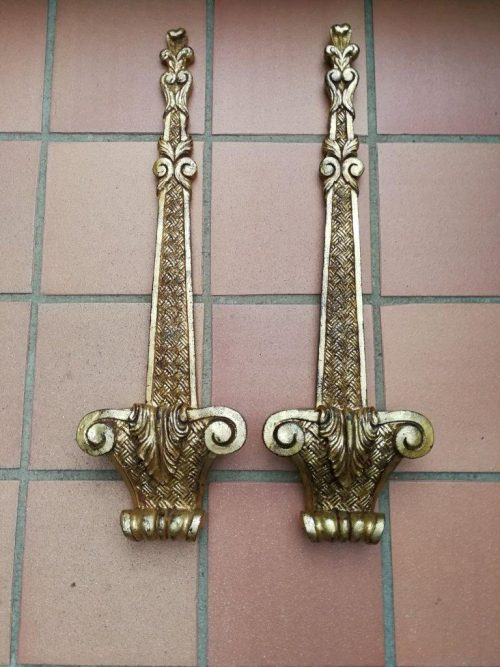 A Pair Of Giltwood Wall Display Sconces