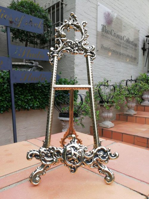 Ornate French Style Brass Easel