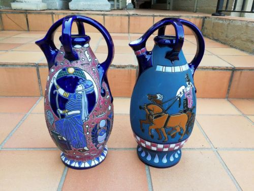 A pair of Amphora vases