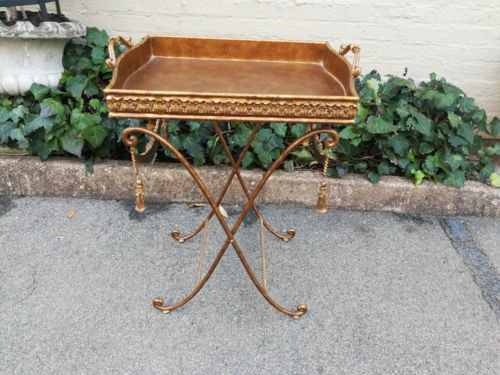 French Ornate Metal Butler Tray
