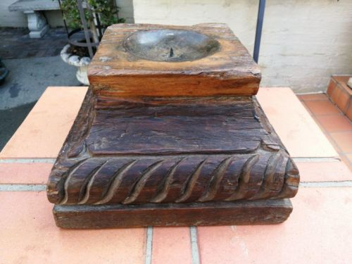Carved Wooden Square top Candle holders or styling bases (SOLD INDIVIDUALLY)