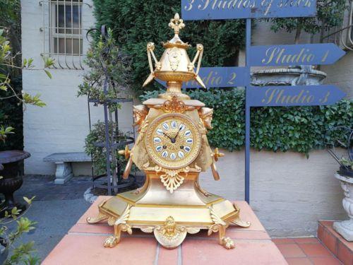 French Ormolu Clock With Pendulum And Key