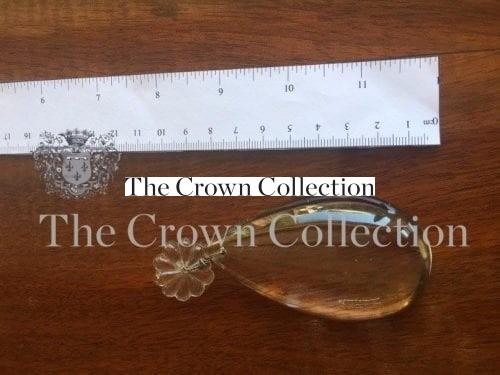 Plain uncut pear drop 8cm
