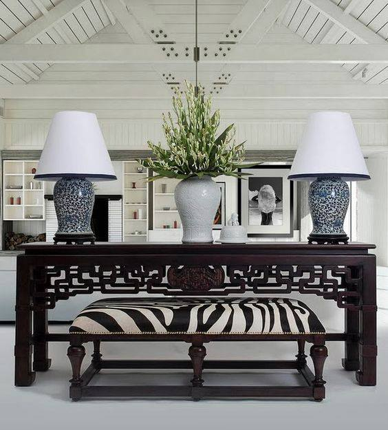 Mixing contemporary and antique furniture