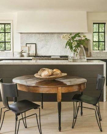 Antique furniture Table in Modern kitchen