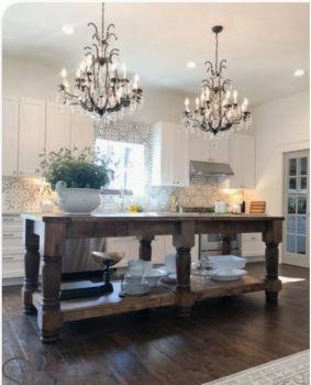 Antique & vintage chandeliers modern kitchen island